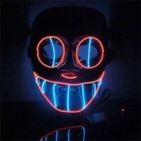 EL Fil DIY Lumière Breakdance Spectacle Masque Halloween Rougeoyant Masque Clignotant Terroristes Masque Festival Partie Masque