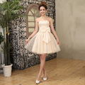 Fashion sexy strapless women ball gown Cocktail Dresses size 2-12 (happy)
