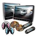 """2*10.1 """"Botón táctil de Coches Reproductor de DVD Reposacabezas HD de la Pantalla 1024*600 HDMI Juego De DVD reposacabezas USB SD IR transmisor Portátil monitor"""