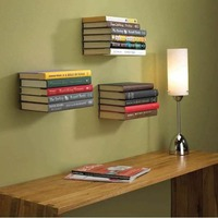 Creative Bookshelf Lazy People Books Holder   Home     Office   Stainless Steel Wall Floating Bookcase Modern Shelf Room Space Saver