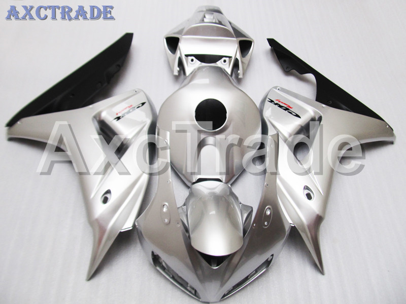 Motorcycle Fairings For Honda CBR1000RR CBR1000 CBR 1000 2006 2007 06 07 ABS Plastic Injection Fairing Bodywork Kit Silver Color motorcycle fairings for honda cbr1000rr cbr1000 cbr 1000 rr 2006 2007 06 07 abs plastic injection fairing bodywork kit white
