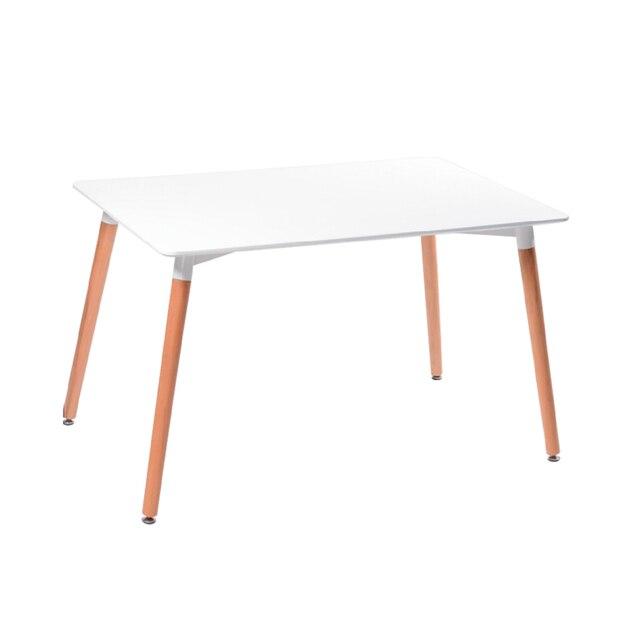 Cheap Ikea Modern Minimalist White Scandinavian Wood Furniture Small  Apartment Writing Rectangular Conference Table Table Child