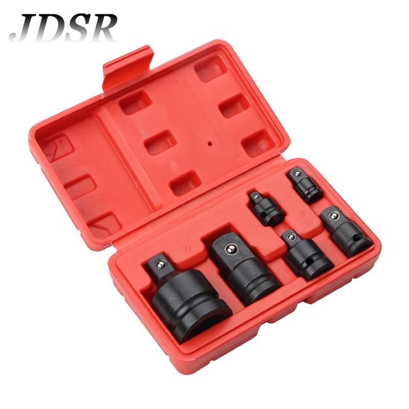 JDSR 5Pcs Pneumatic Sleeve Drive Socket Adapter Converter Reducer Air Impact Craftsman Socket 1/4 3/8 1/2 3/4 Black Wrench Set потребительская электроника oem 2 4 8 usb 2 0 converter 003