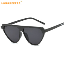 Vintage Cat Eye Flat top Sunglasses Women Fashion Triangle