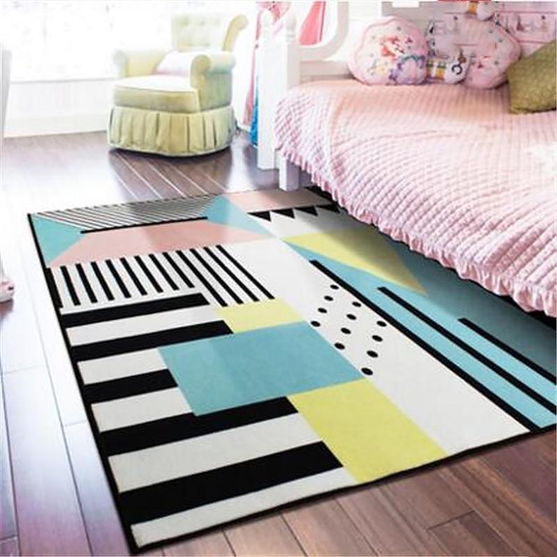 Creative Molly's Guess géométrique doux Nylon grands tapis pour salon chambre tapis tapis tapis maison tapis porte tapis