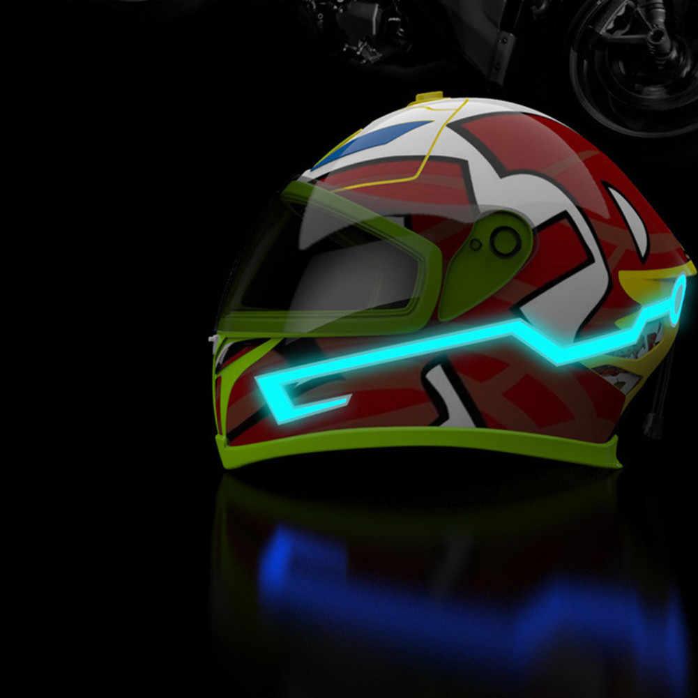 Motorcycle Helmet EL Cold Light Mod Kit Tron Night Signal Flashing Lights