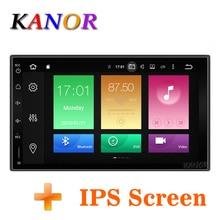 KANOR Восьмиядерный ram 4G rom 32G 2 Din Android 9,0 автомобильный аудио стерео радио с gps WiFi универсальный gps навигация видео головное устройство