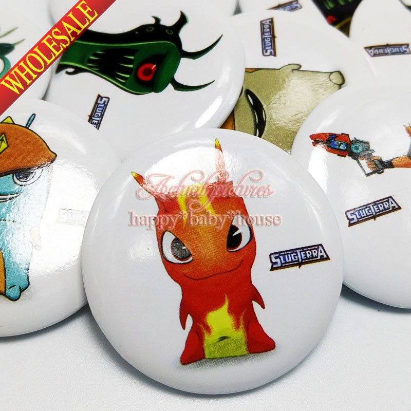 Free Shipping 18PCS Slugterra Buttons Pins Badges,30mm Cartoon Round Badges.Bags Travel Accessories Ornaments Party Gifts/Favors