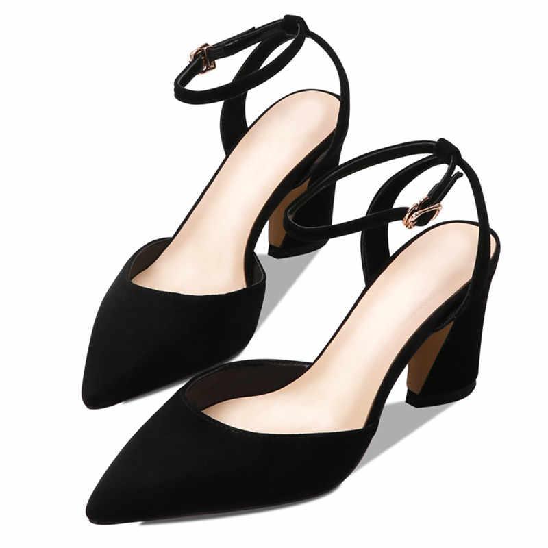 ASUMER 2019 חדש קיץ סנדלי הבוהן מחודדת רדוד גבוהה עקבים נעלי אבזם גבירותיי לנשף חתונה נעלי נשים סנדלים