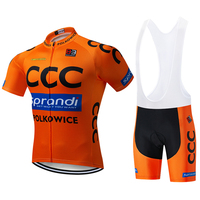 2019 CCC blue sky cycling team jersey bike shorts suit Ropa Ciclismo mens summer quick dry PRO bicycle Maillot Pants clothing