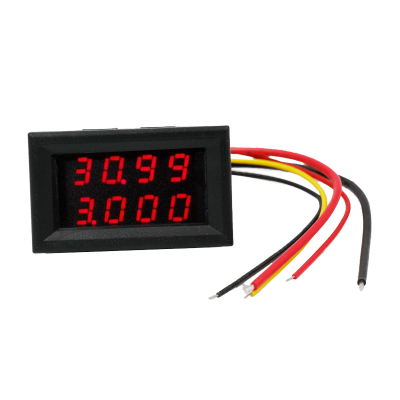 <font><b>10pcs</b></font>/lot Digital LED 4 Bit Bual display Car Moto DC 0.00-33.00V Current Voltage Volt Gauge Meter Ammeter <font><b>Voltmeter</b></font> 20% off image