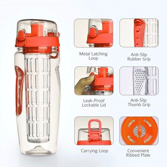 Leak-Proof BPA Free Fruit Infuser Juice Shaker