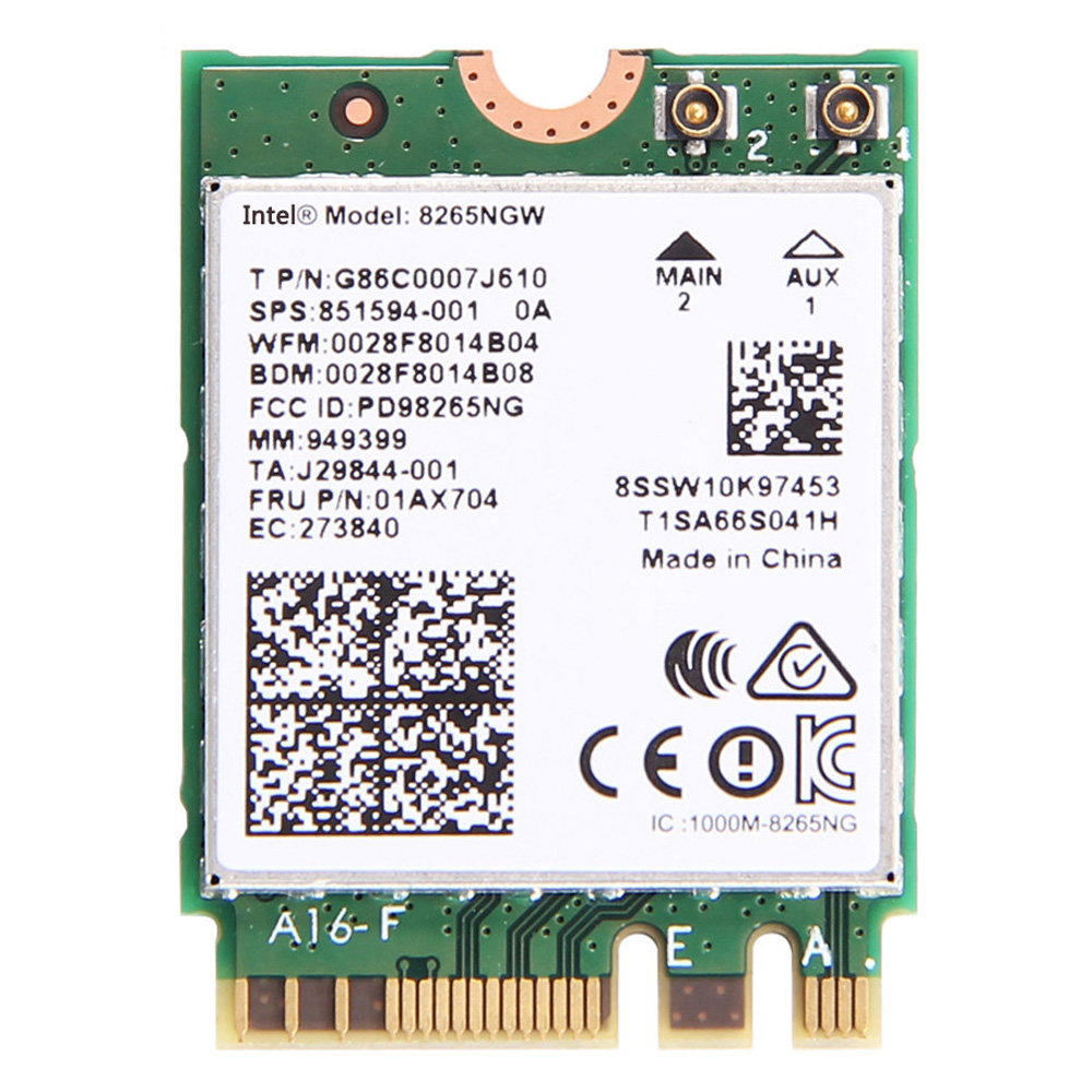 Intel 8265 wifi Wireless card AC 8265 AC 8265NGW NGFF Dual Band Network card 867Mbps WiFi Bluetooth4.2 2.4G/5G 802.11ac Card