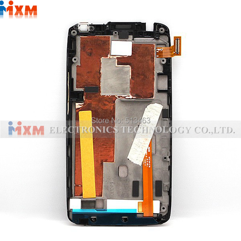 ФОТО Black For HTC One X AT&T LCD touch screen display with digitizer + Bezel Frame Assembly Free shipping !!!