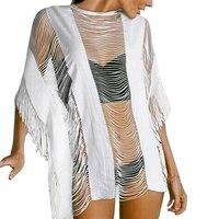 Blouses Shirts Women Lace Crochet Bikini Cover Up Swimwear Bathing Suit Summer Beach Dress DM 6