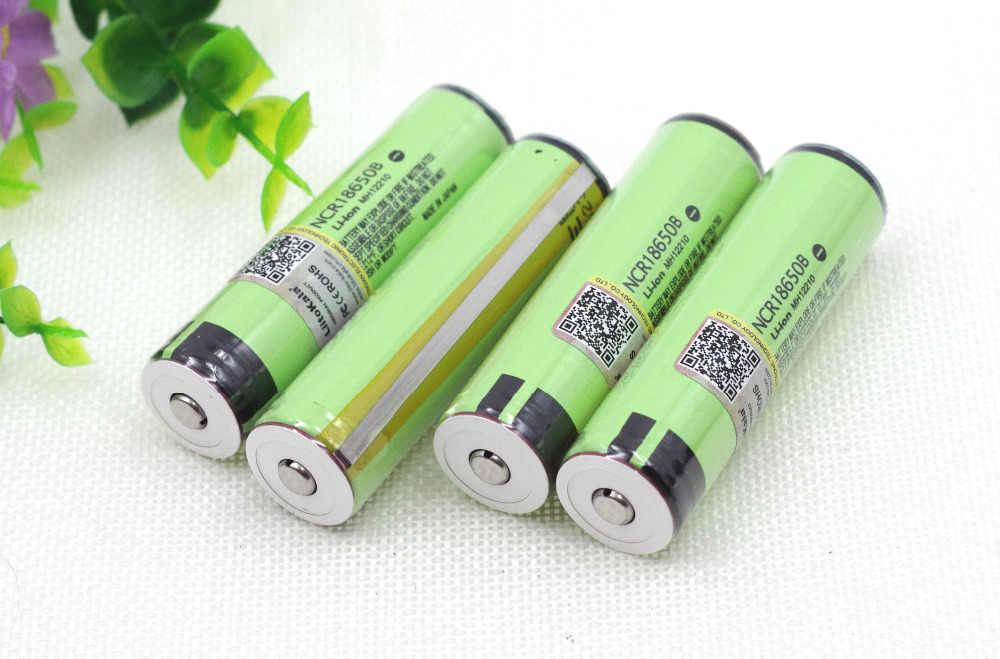 2 PCS LiitoKala Novo 18650 Original 3400 mAh Da Bateria 3.7 V Li-ion Recarregável PCB Bateria Protegido Para lanterna elétrica ferramentas