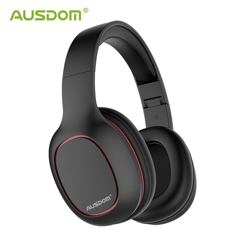 Ausdom M09 Fones de Ouvido Sem Fio Bluetooth 4.2 Headset Dobrável Apoio TF Cartão Bluetooth Graves Profundos Fone De Ouvido para iPhone Xiaomi