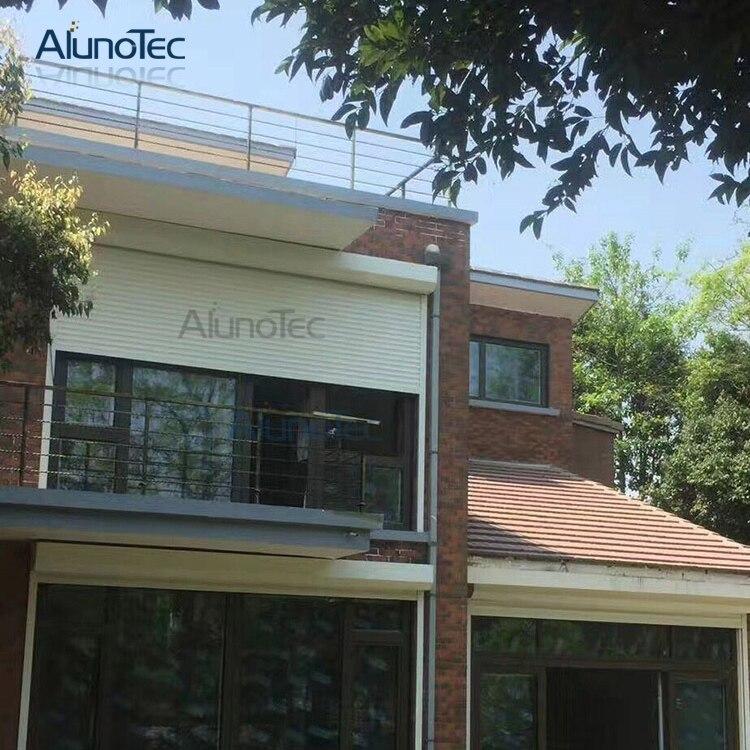 Motorisierte Rollladen Fenster Aluminium Rollläden für Gebäude in ...