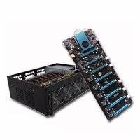 Профессиональные горные машины системы 8PCI E 4 ГБ DDR4 M.2 60 г SSD RJ45 Gigabit VGA USB2.0 BTC IC6S доска с 4 поклонников