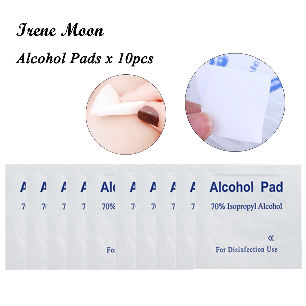 Portable 10pcs Alcohol Pads Swabs Pads Preps Wet Wipes Antiseptic Cleanser Cleaning Sterilization First Aid