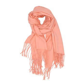 Blue New tassel winter scarves for women shawls and wraps lady pashmina solid long cashmere head scarves hijab stoles 1
