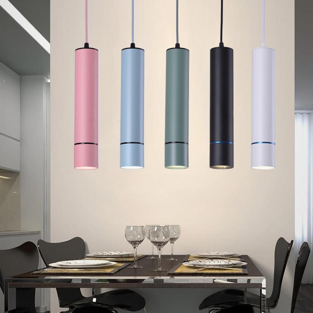 Colorful LED Pendant Lamp 15W Modern Vintage Bar Restaurant Bedrooms Pendant Lights Indoor Hanging Lamp AC100- 240V Luminaria
