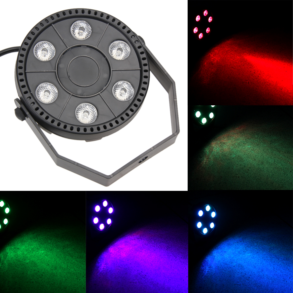 Professional LED Stage Lights 18W 6 LED Stage Laser Projector Lighting Party Disco DJ Club KTV Music Bar Holiday Light