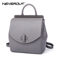 NEVEROUT Women Bag Brand Name Leather Bags Genuine Leather Small Backpacks Girls Solid Bags Female Shoulder Luxury Travel Bags