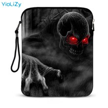 Skull print 9.7 inch mini tablet bag notebook sleeve smart laptop protective Case Cover For Apple iPad Air Pro 2 IP-3104