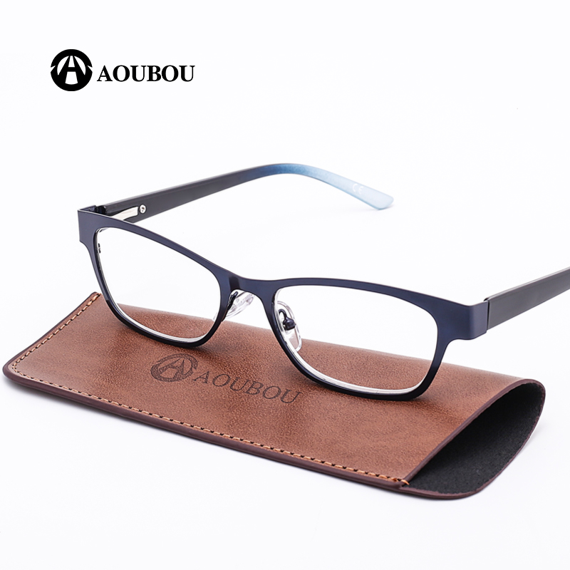 AOUBOU Brand Blue Vintage Women Reading Glasses High Clear Lens Glass Full Frame Glasses Gafas de