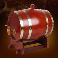 1.5L Wine Oak Barrels Brewing Decorative Barrel Keg Bucket Brewage Hotel Restaurant Exhibition Display Wooden Wine Barrel