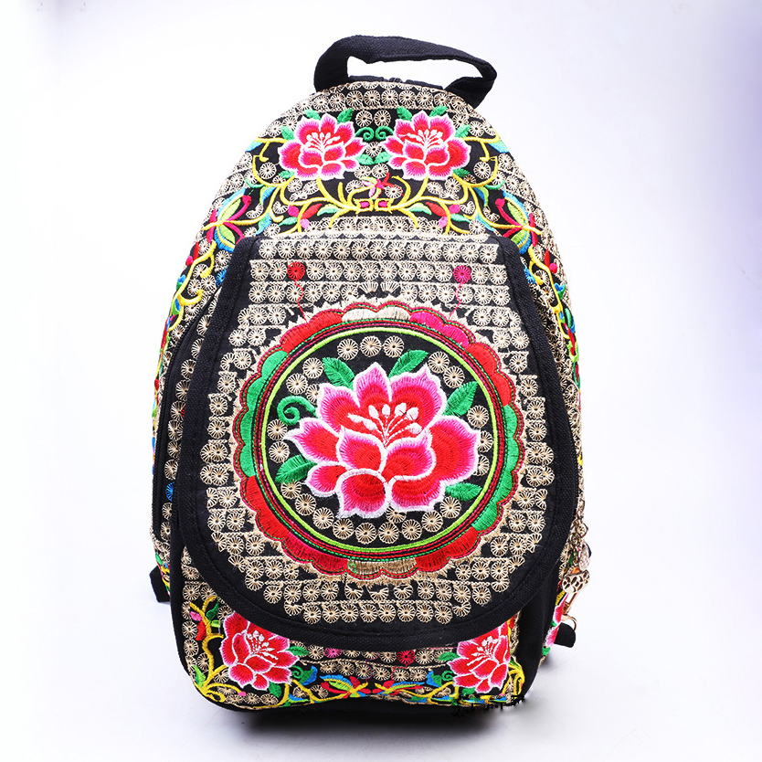 Vintage Girl's Canvas Backpack Schoolbags Bookbag Students College Bag Hippie Rucksack Women's Travel
