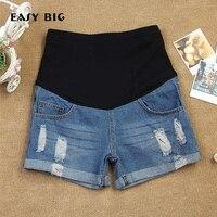 EASY BIG Summer Denim Short Maternity Jeans Shorts Pants For Pregnant Women Clothing Pregnancy Shorts Belly Jeans Shorts MC0008
