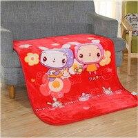 110*140 cm Duplo pelúcia tapete infantil bonito dos desenhos animados diário em casa ar condicionado cobertor cobertor do bebê por atacado de varejo