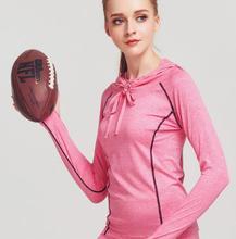 PD-T12 2018 для женщин О-образным вырезом фитнес футболки быстросохнущая с длинным рукавом Тонкий