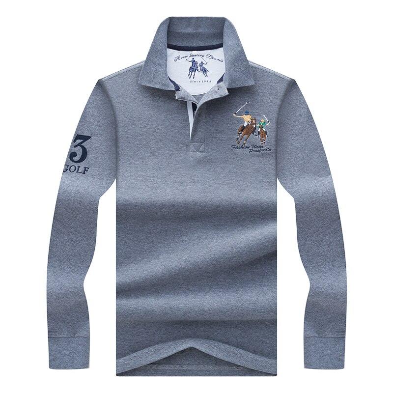Brand Casual Men   polos   shirt para hombre 2019 new Spring long sleeve smart casual 3D Embroidery camisa   polo   shirt men masculina