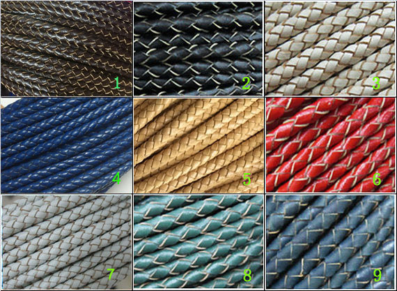 5mm Braided leather cord 5mm thick round leather leather cord in Jewelry Findings Components from Jewelry Accessories