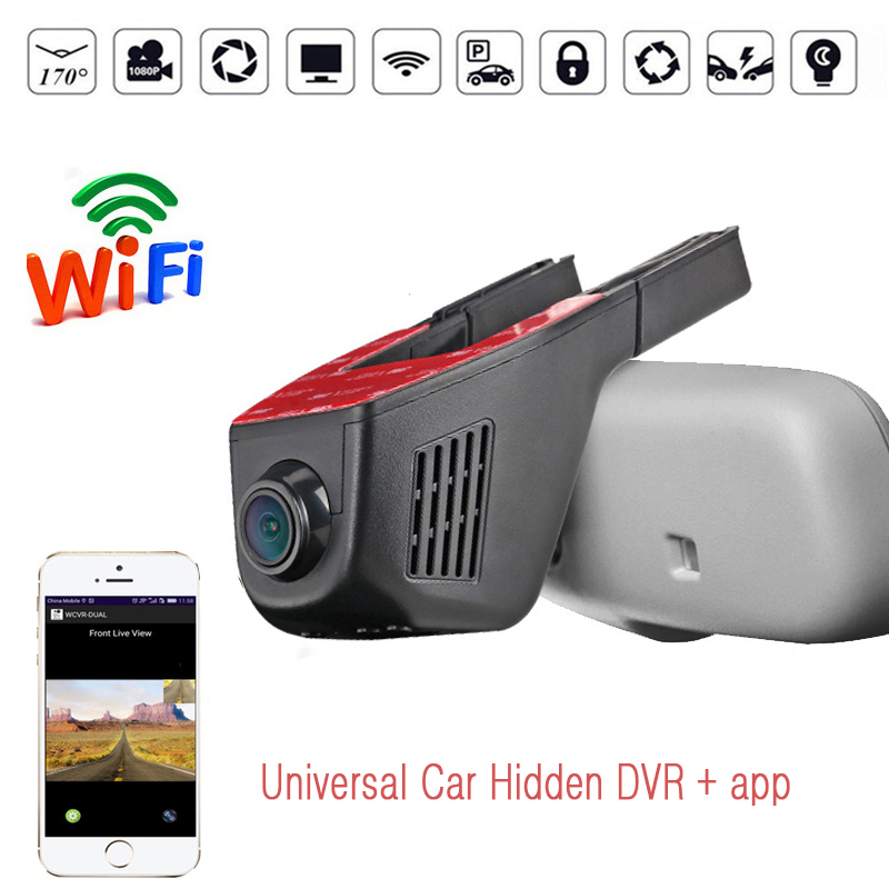 Hidden Car Dvr WIFI Car Camera Video Recorder Dash Cam Night Vision Recorder Free Shipping