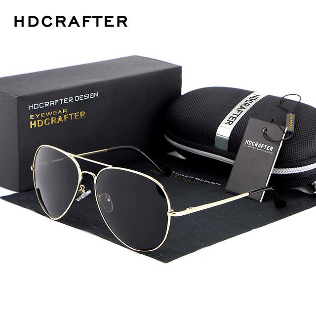 2017 new polarizado diseñador de la marca de moda marco lentes ovales de metal buena Calidad de los hombres Gafas de Sol de Conducción Dom Vidrio gafas de sol