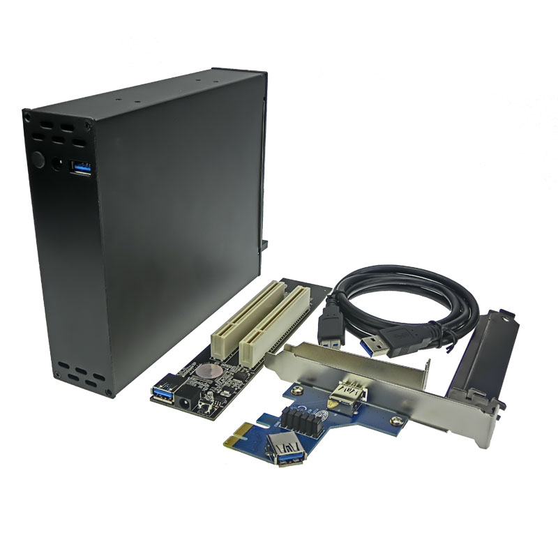 PCI-E To PCI Riser Card Optical Drive HubBay 2 Slot 32bit PCI Dock цена 2017