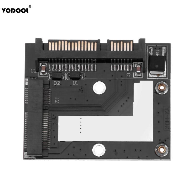 VODOOL Mini Converter Adapter Card For MSATA Mini PCI-E SSD To 2.5inch SATA 6.0Gbps Port 57 X 46 Mm Add On Card