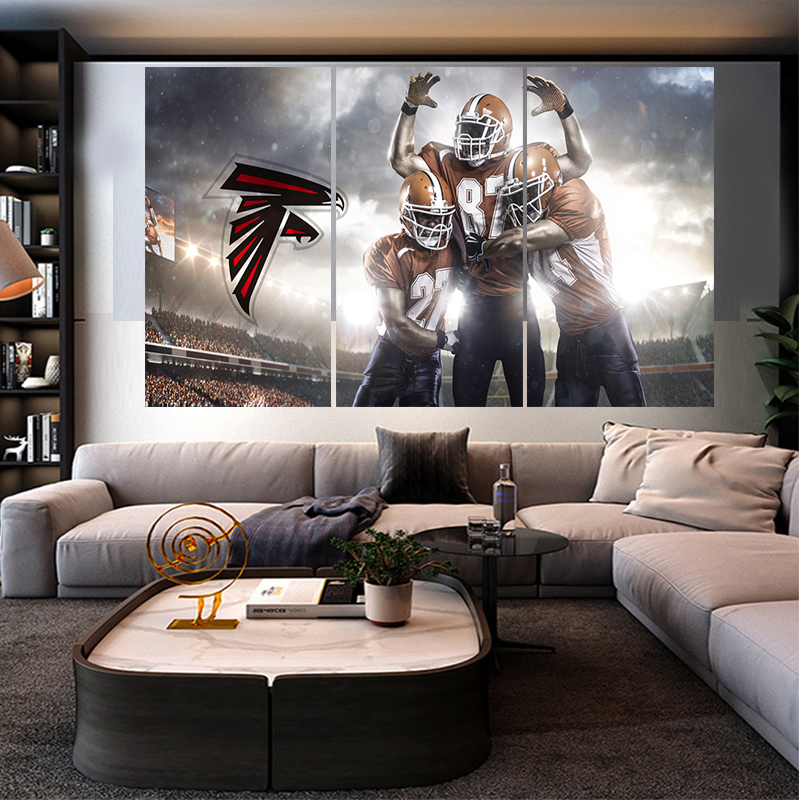 Home Decor Stores Atlanta: Ball Sport Poster Falcons Team Paintings Wall Home Decor