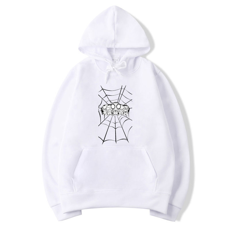 New style brand new Hoodies various of spiders in black white spider web page fight man circle of Jacket men Hoodies 2