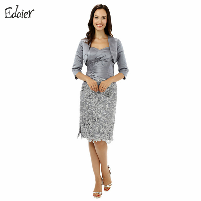 Plus Size Silver 2018 Mother Of The Bride Dresses Sheath ...