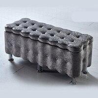 Замшевые бытовой диван стул удлинить многоцелевой менять обувь скамейка деревянная Спальня туалетный стул стабильный практические хранен