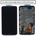 Para motorola nexus 6 xt1100 xt1103 vidro display lcd touch screen digitador assembléia com frame + ferramentas frete grátis