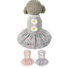 Spring/Summer Dog Dresses Cute Flower Princess Tutu Dress S-XL Clothes For Dogs For Small Dogs Cat Pet Supplies Wholesale noNV27