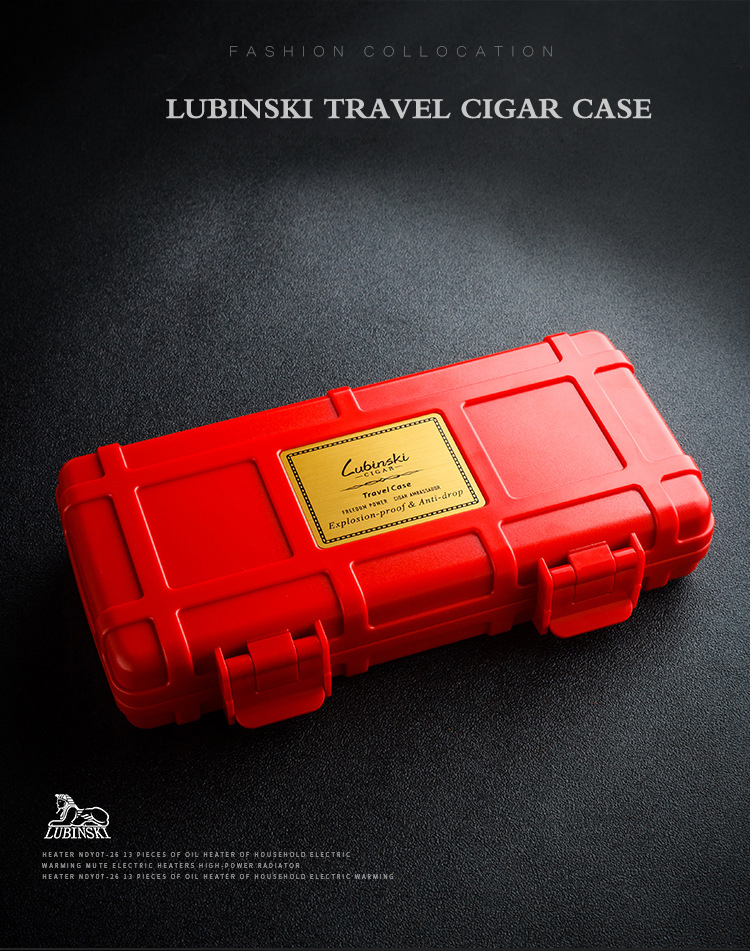 Cigar Accessories Lighters & Smoking Accessories Cigarloong Cigar Humidors Portable Travel Cigar Humidors Cigar Box 5 Sticks Waterproof Cigar Bag Ca-0020 Traveling