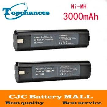 High Quality 2pcs 9.6V 3.0Ah Ni-MH Battery for MAKITA 9000 9034 9600 193889-4 193890-9 4093D