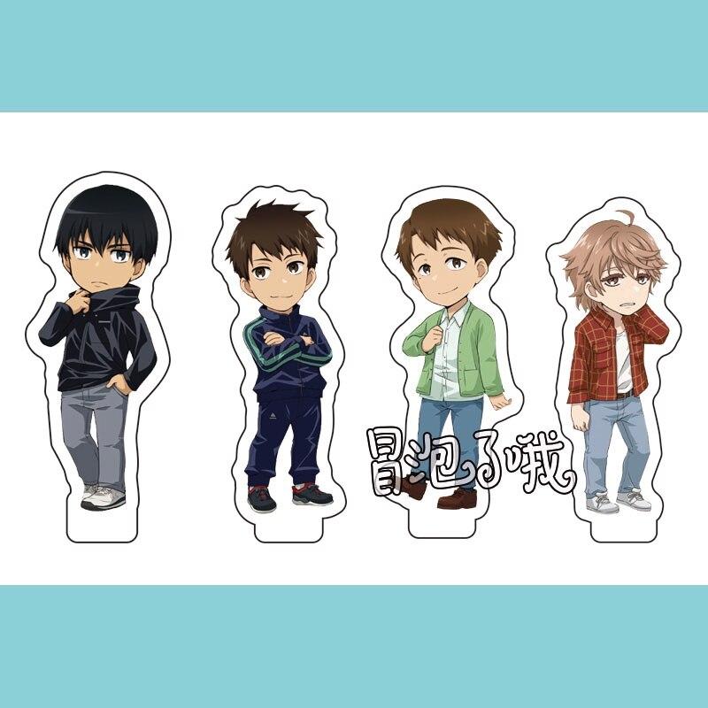 Anime Run With The Wind Kaze Ga Tsuyoku Keychain Cosplay Acrylic Stand Figure Keyring Pendant Charms Hanging Ornament Xmas Gifts